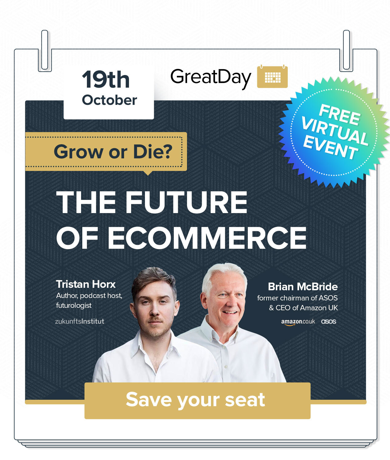 Great Day for Ecommerce Growth event illustration