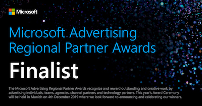 Microsoft Advertising Regional Partner Awards Finalist Badge