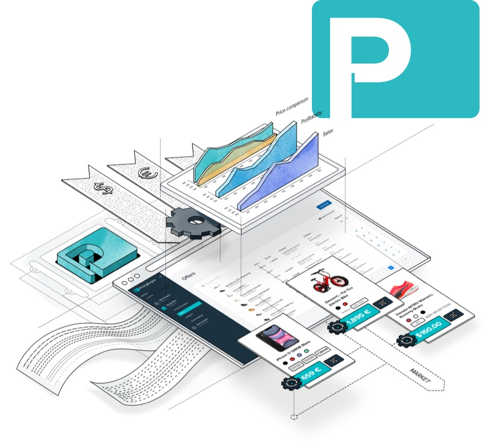 Illustration of Pricing Engine software for dynamic pricing and success beyond paid search